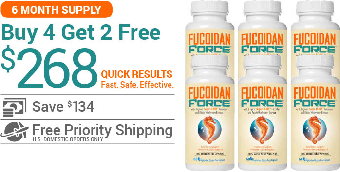 Buy Fucoidan Force - 6 Bottles