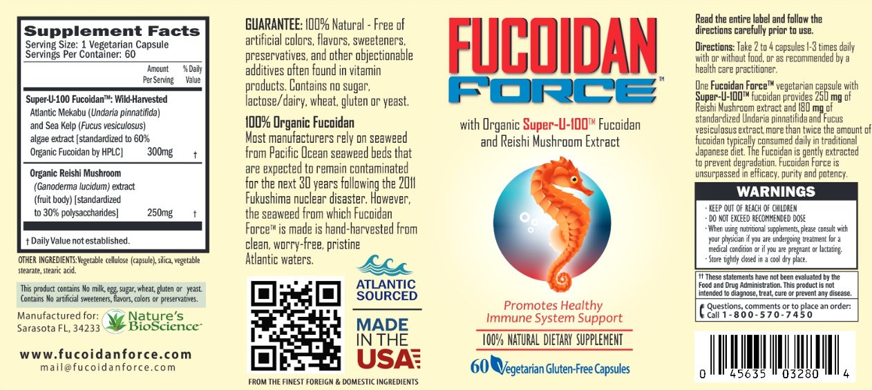 Fucoidan Force Supplement Facts